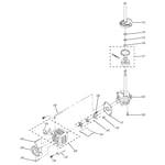 GE WSM2480TBAAA brake, clutch, gearcase, motor & pu diagram