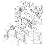 GE AZ25E15D2CM1 motor & chassis parts diagram