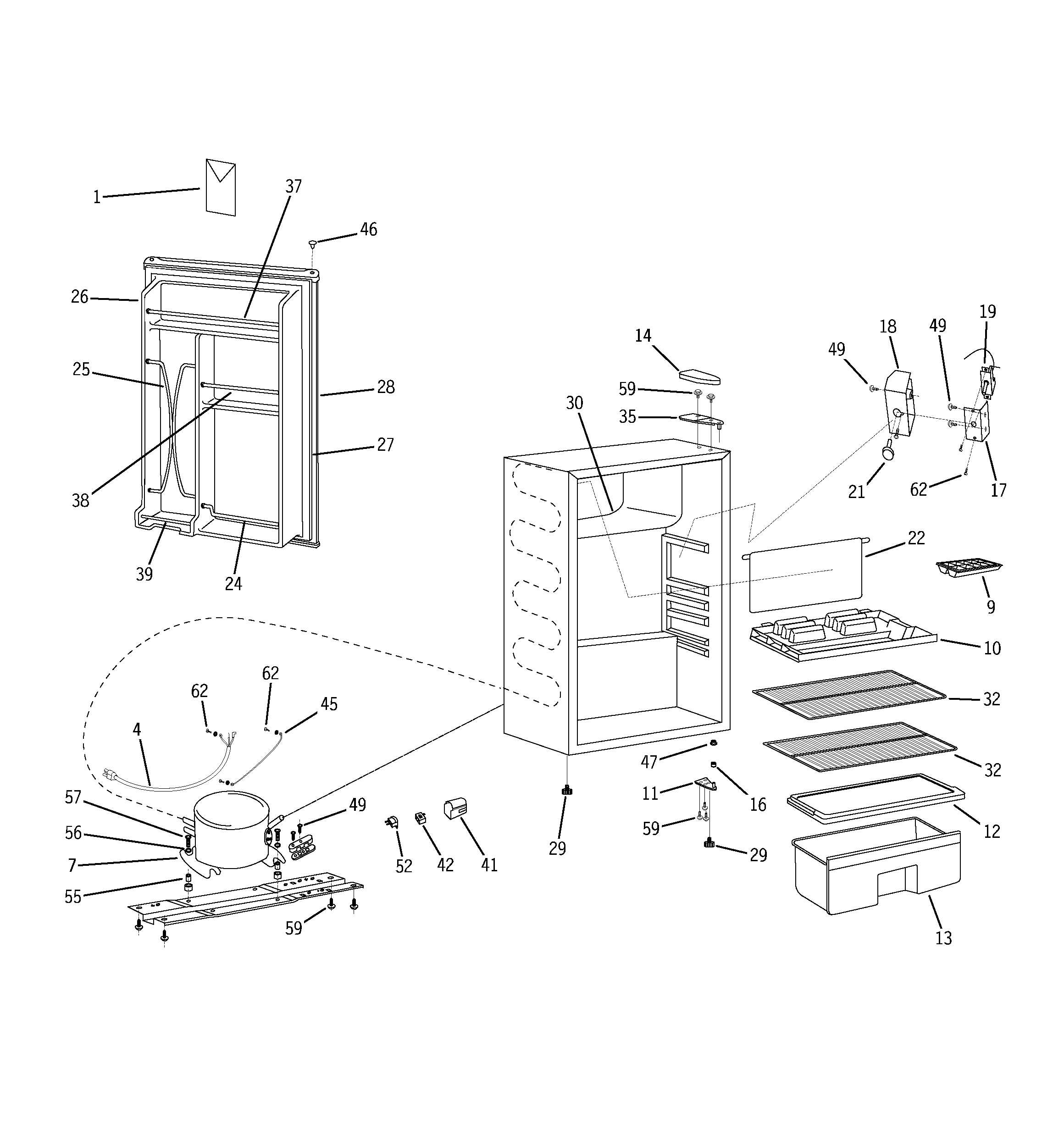 Ge  Refrigerator N Series  Refrigerator parts