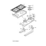 GE ZDP36N4RD1SS burner assembly diagram