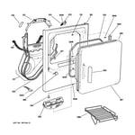 GE DPSB620GC1CC front panel & door diagram