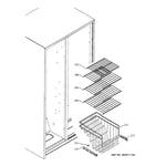 GE GSS25QGPBWW freezer shelves diagram