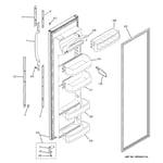 GE GSS22WGPABB fresh food door diagram