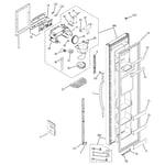 GE SSS25KFPCWW freezer door diagram