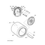 GE EED3000B2WW drum diagram