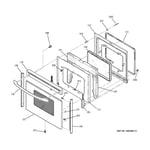 GE JBP69SF3SS door diagram