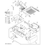 GE GSS25WGMCBB ice maker & dispenser diagram
