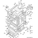 GE JGBP85CEH1CC body parts diagram