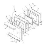 GE JBP66CH2CC door diagram