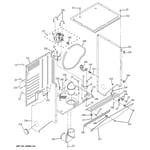 GE WSM2420D0WW dryer cabinet & motor diagram