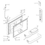 GE GTT22KBPARBB freezer door diagram