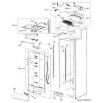 GE PSB48LGRAWV fresh food section diagram