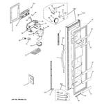 GE GST22KGPHCC freezer door diagram