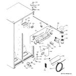 GE GST25KGPHBB fresh food section diagram