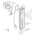 GE PSS26LGSABB freezer door diagram