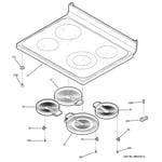 GE JBP69BH3BB cooktop diagram