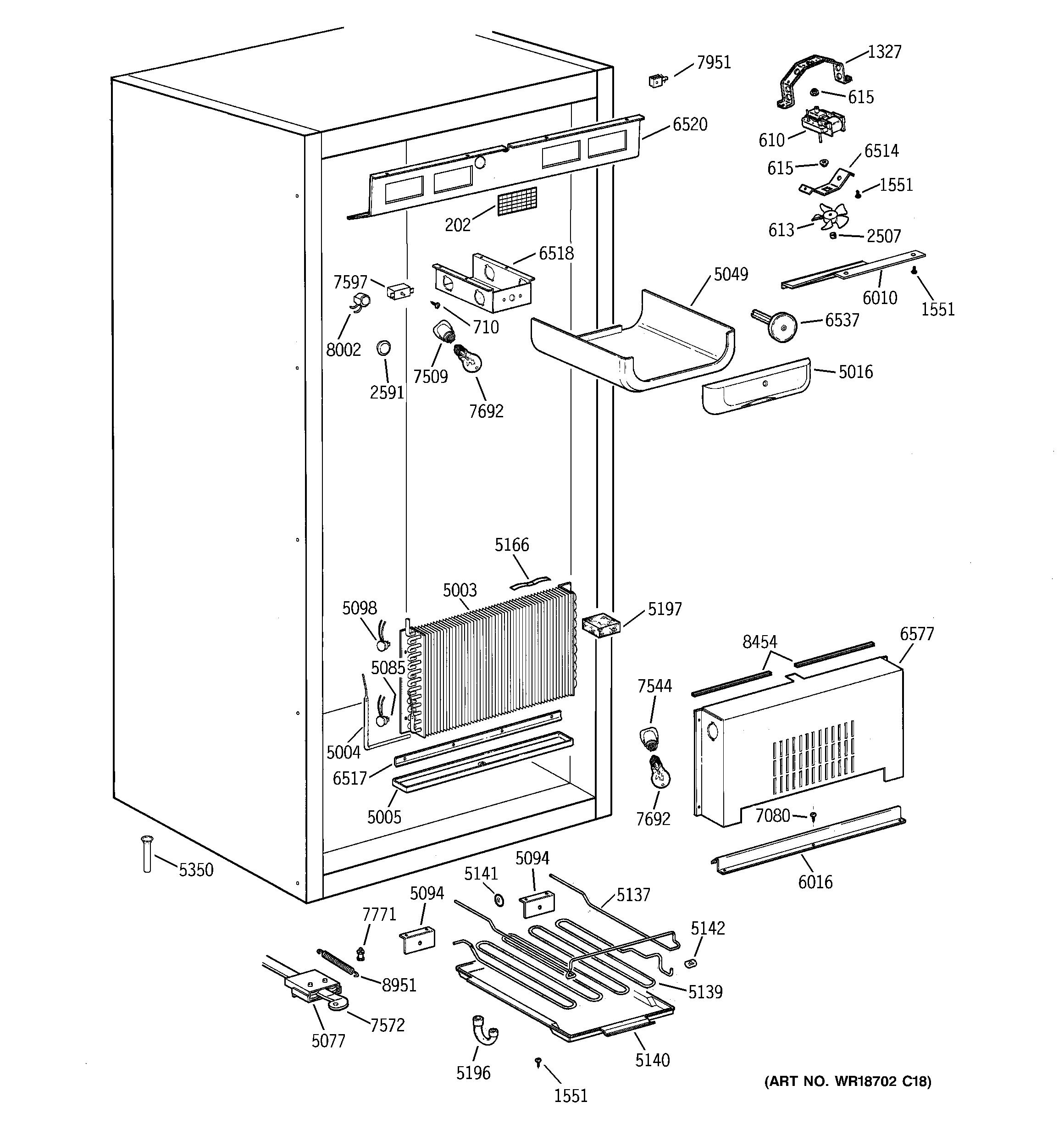 Ge  Freezer  Cabinet parts (1)
