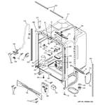 GE PDW7700J10CC body parts diagram