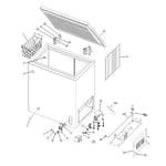 GE FCM7DRAWH freezer parts diagram