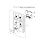 GE JT965CF6CC microwave control panel diagram