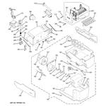 GE PSS26NGPCBB ice maker & dispenser diagram