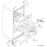 GE GTS18DBPNRCC fresh food section diagram