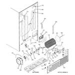 GE PCT23SHRDSS sealed system & mother board diagram