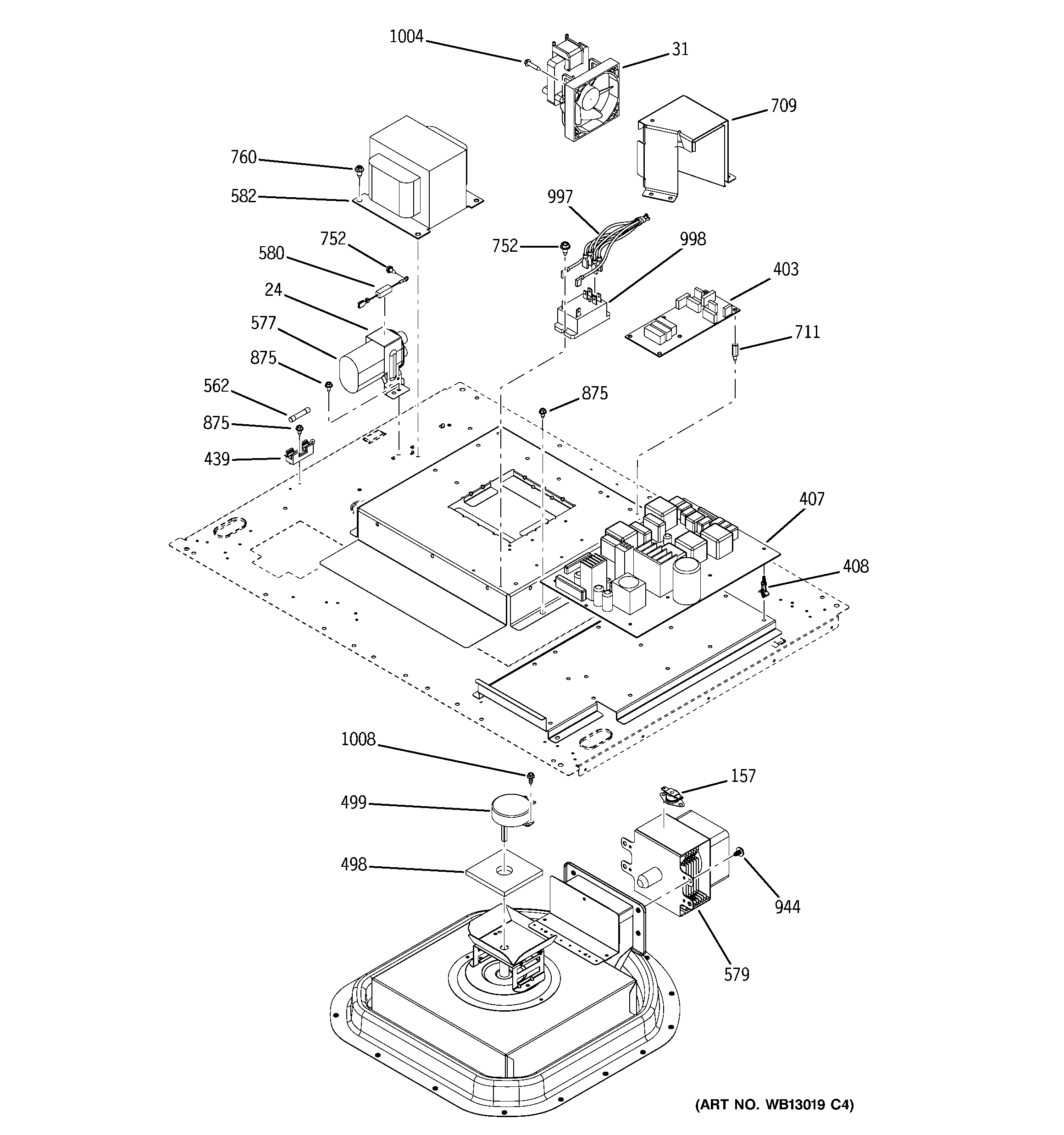 GE ZET3038WH2WW control section diagram