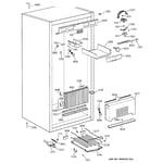 GE ZIFS36NMILH cabinet parts (1) diagram