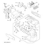 GE PSF23NGTAWW ice maker & dispenser diagram