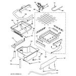 GE ZDIS15CSSL evaporator, ice cutter grid & water diagram