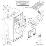 GE GTH18DCRKRBB freezer section diagram
