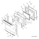 GE JBP35DK2BB door diagram