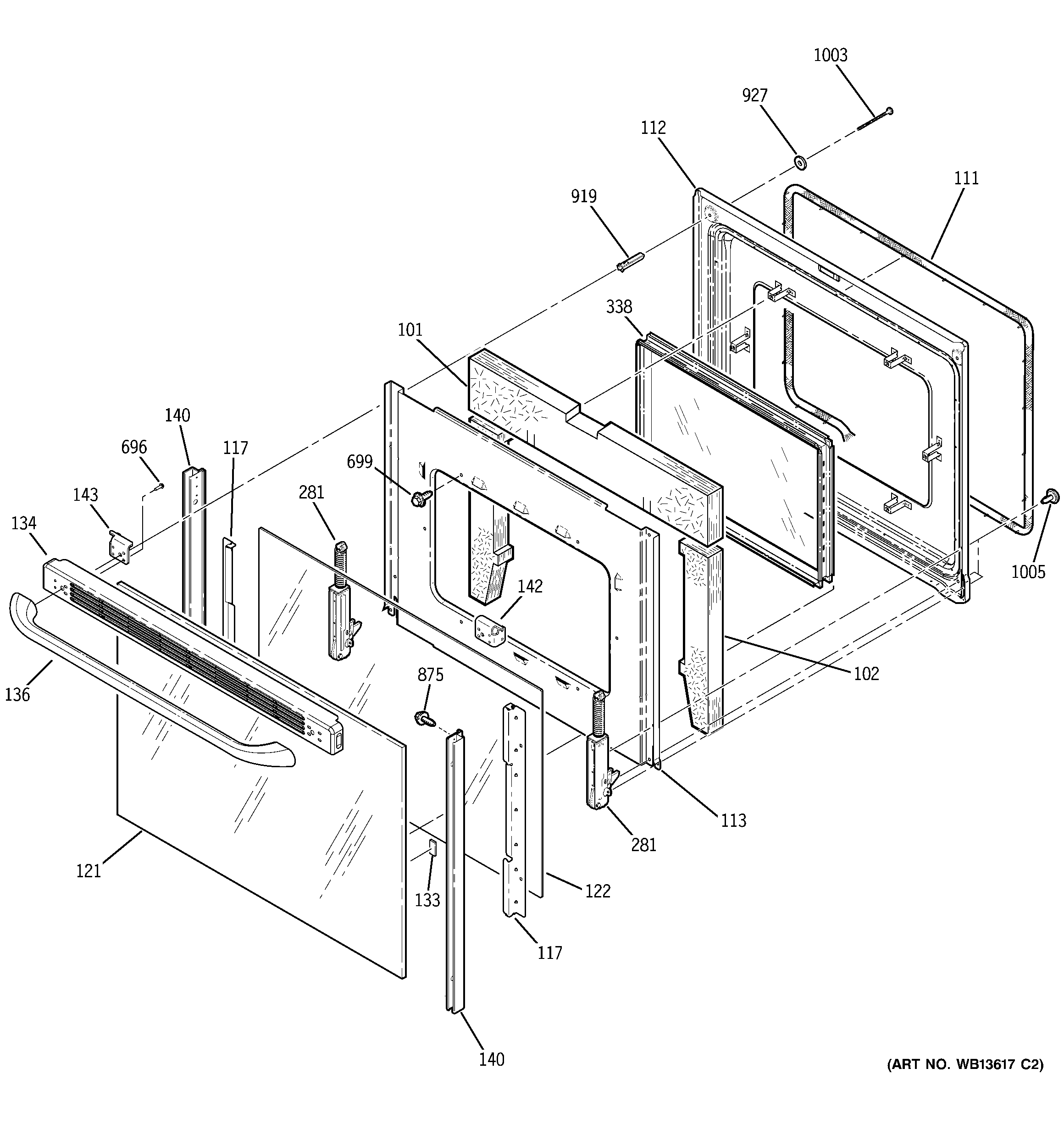 GE JCBP68HK2WW door diagram