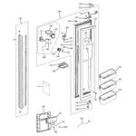 GE PSB42LSRABV freezer door diagram
