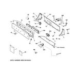GE WWRE5240DCCC controls & backsplash diagram