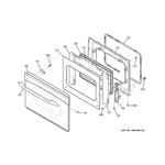 GE JD900WK2WW door diagram
