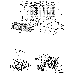 GE ZBD7005G05II basket & wrap assembly diagram