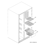 GE GSK25LGTACCC freezer shelves diagram