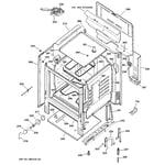 GE JBP22BK4WH body parts diagram
