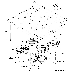 GE JB988SK4SS cooktop diagram