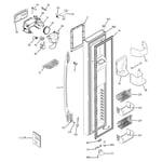 GE PSC23MGTABB freezer door diagram