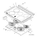 GE JSP47BF2BB cooktop diagram