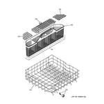GE GHDA485N10CS lower rack assembly diagram