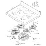 GE PB970KM2CC cooktop diagram