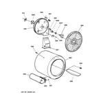 GE DWSR463GG2WW drum diagram