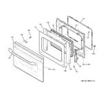 GE P2S975BEM1BB door diagram