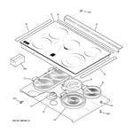 GE JS905BK3BB cooktop diagram