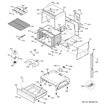 GE JSS28BK4BB body parts diagram