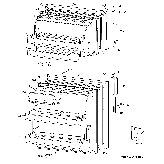 GE GTS17BCSARCC doors diagram